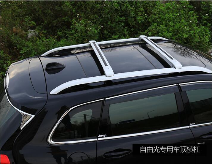 Car Aluminum Roof Rack Rail Baggage Luggage Cross Bar For Jeep