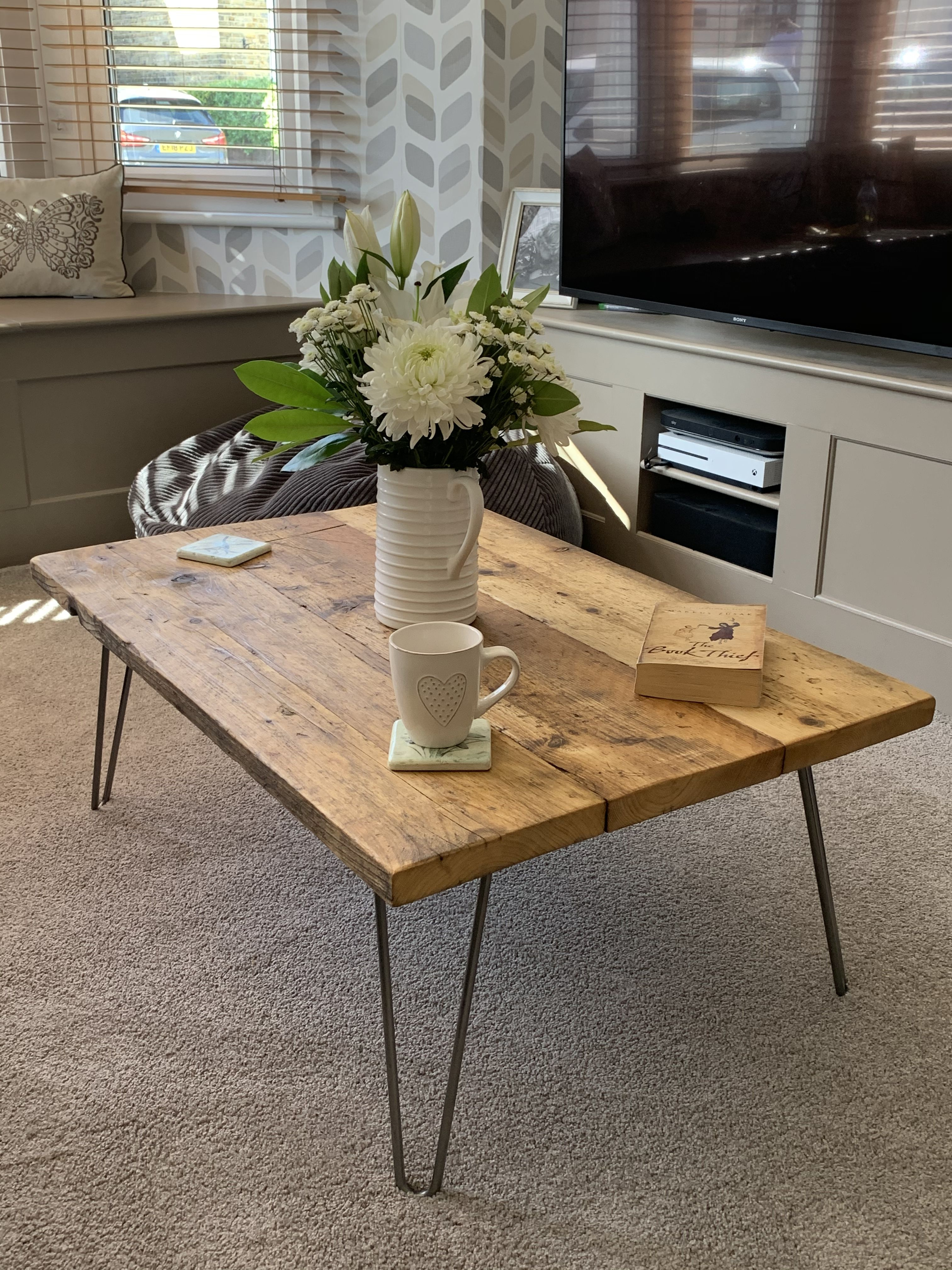 Rustic Urban Scaffold Board Coffee Table Wood Coffee Table Decor Coffee Table Table Decor Living Room [ 4032 x 3024 Pixel ]