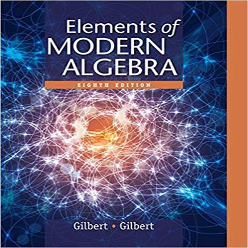 Solution Manual For Elements Of Modern Algebra 8th Edition By Gilbert Kolase Foto