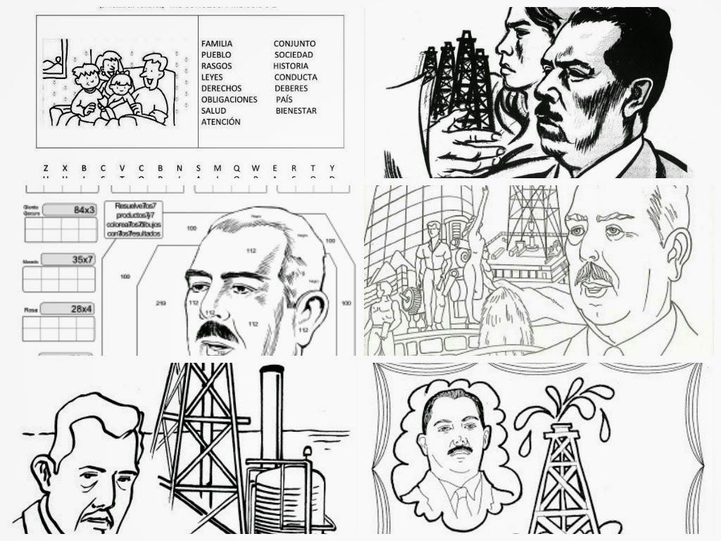 dibujos para colorear 18 de marzo expropiacion petrolera