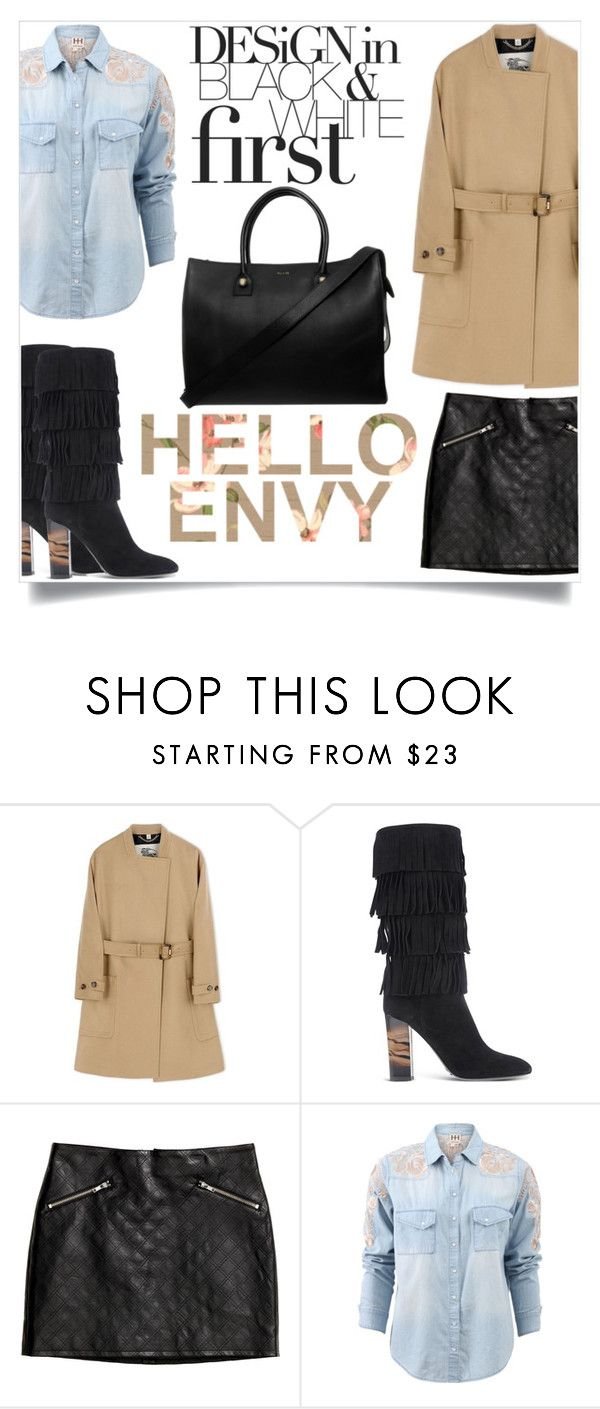 """Bez naslova #2652"" by kristina-krizanec ❤ liked on Polyvore featuring Burberry, H&M, Haute Hippie and Paul & Joe"