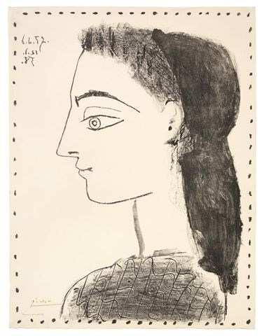 Jacqueline au mouchoir noir Picasso My Favorite Arts