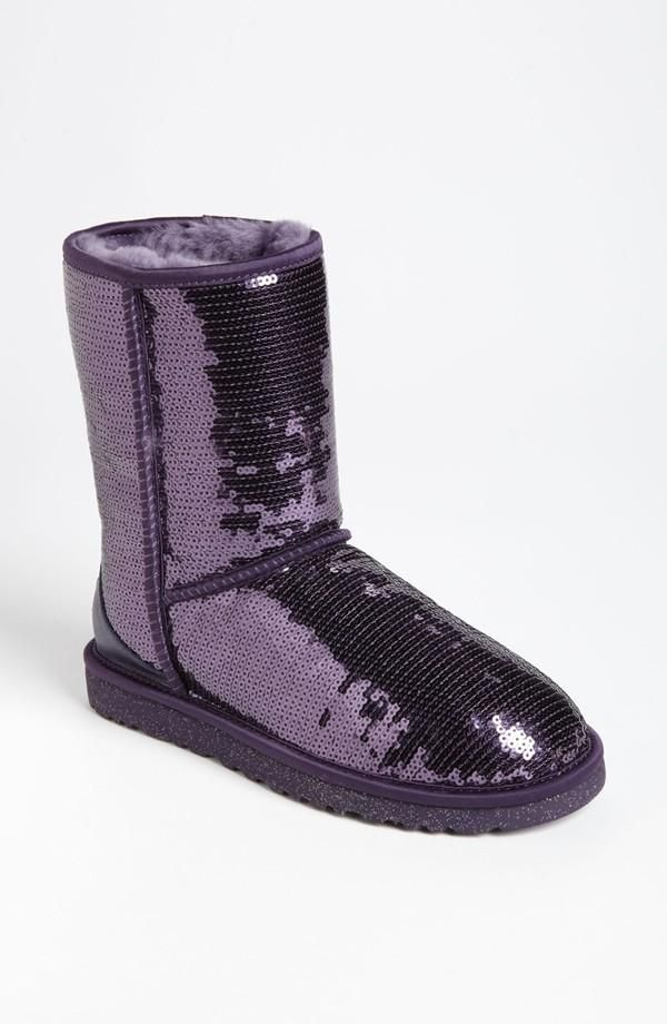 Purple, Sparkle UGG Australia Boots...Grace would soooo wear these!