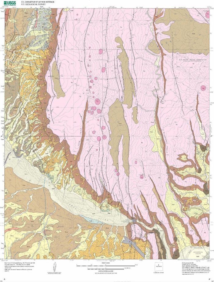 geomap by sf personius 2002 a geologic map of the santa ana pueblo new mexico quadrangle geology pinterest geology and minerals