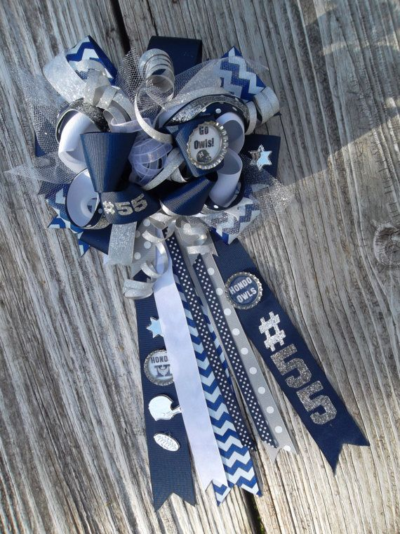 Items similar to Customizable Homecoming Hair Bow Mums Big Texas Bow Mum for Hair Corsage on Etsy