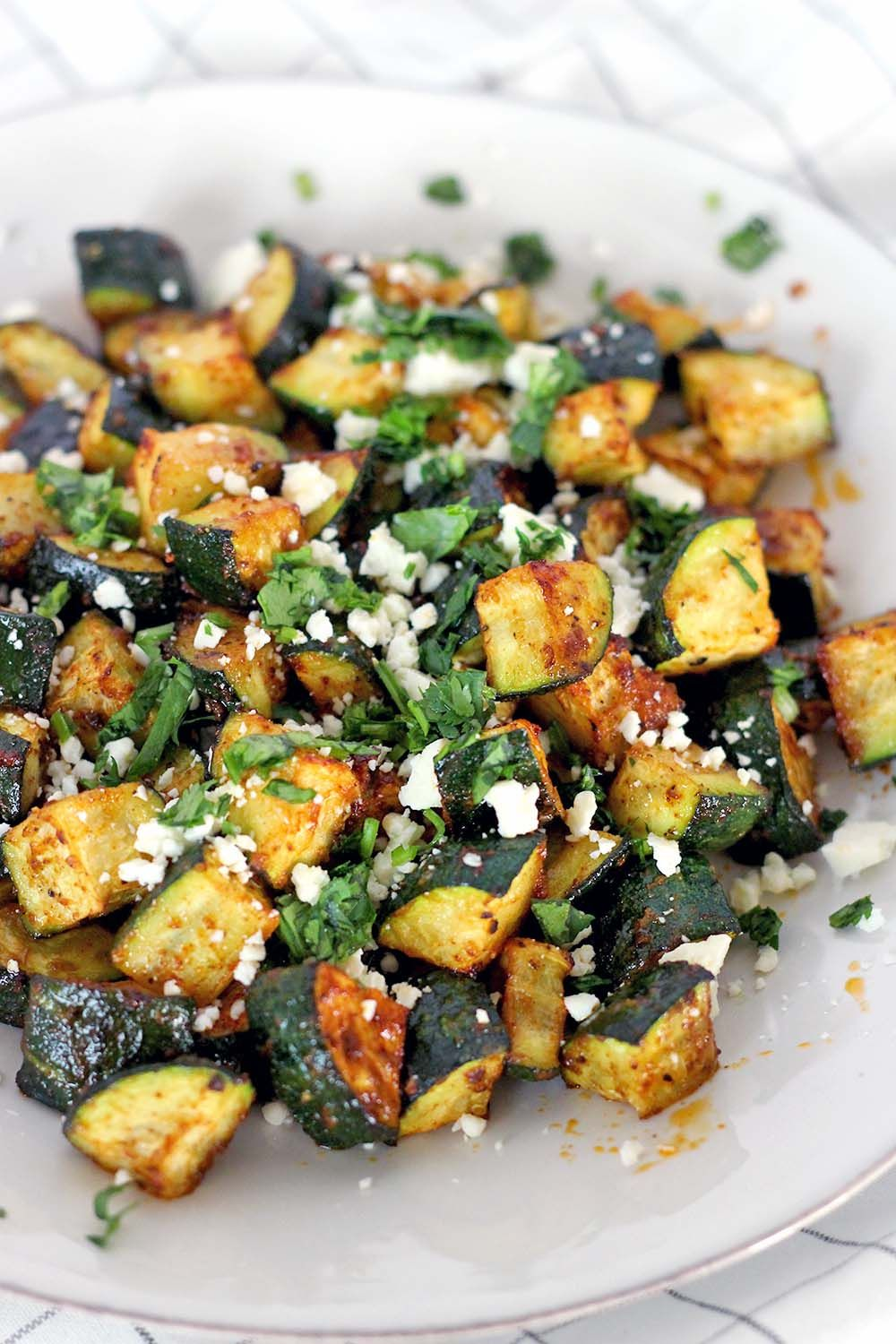 Roasted Mexican Zucchini Recipe Mexican side dishes