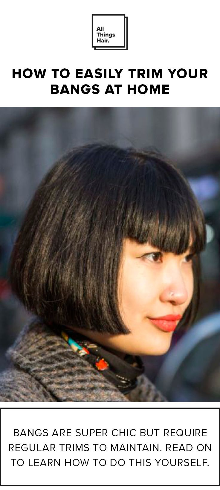 With great bangs comes great responsibility, follow our simple tips and  keep your fringe looking fresh at home! #Ad | Hairstyles with bangs, Bangs,  Hair styles