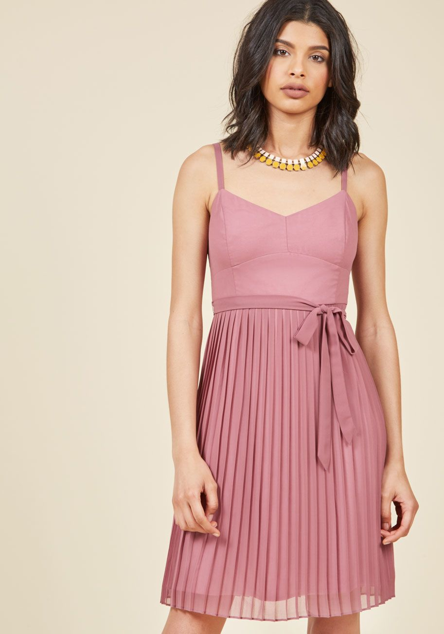4f2f9d2d86 ModCloth - Posh Prompting A-Line Dress in Dusty Rose