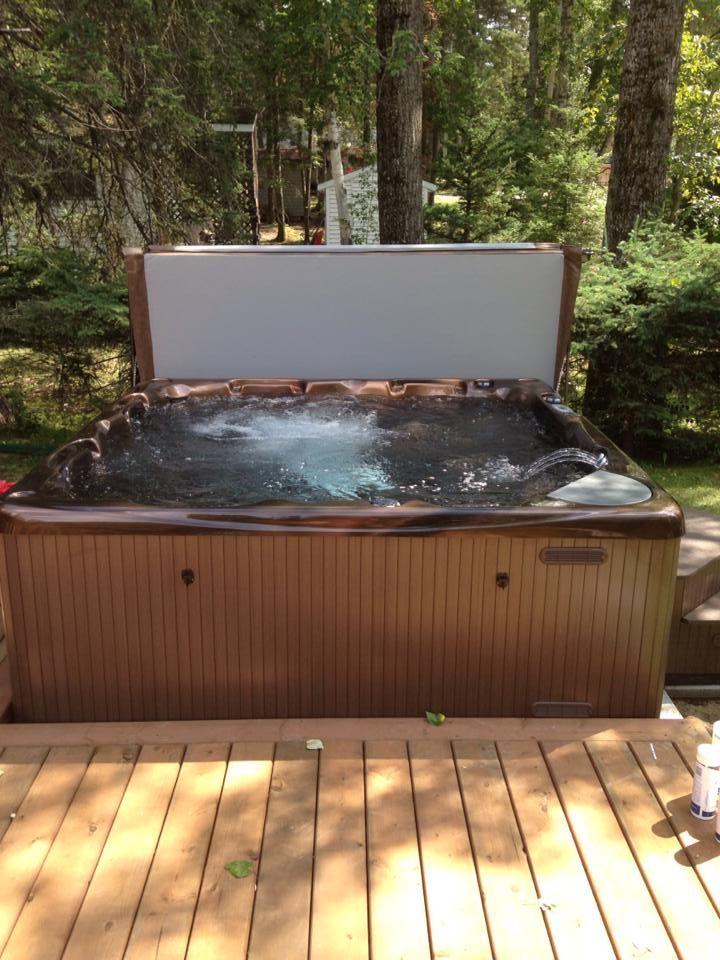 Brandon with a wonderful hot tub installation