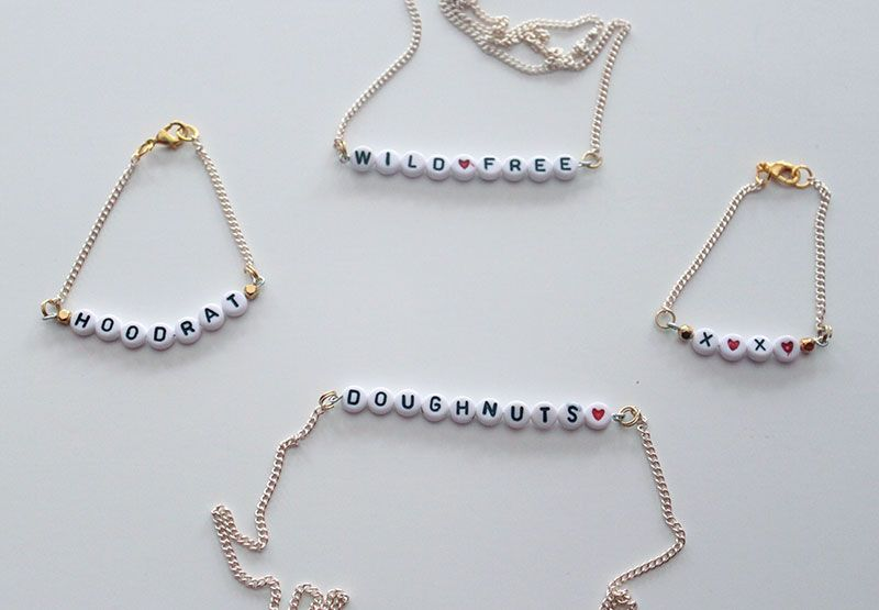 ed30bfeee8fc5 DIY Alphabet Bracelet | Jewelry We Love | Bracelets, Alphabet beads ...