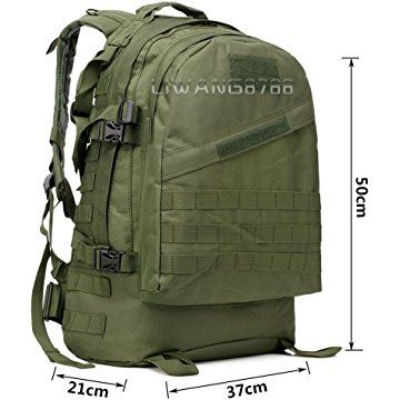 Wocharm Tm 40l Molle 3d Assault Tactical Outdoor Military Rucksacks Backpack Camping Bag Uk