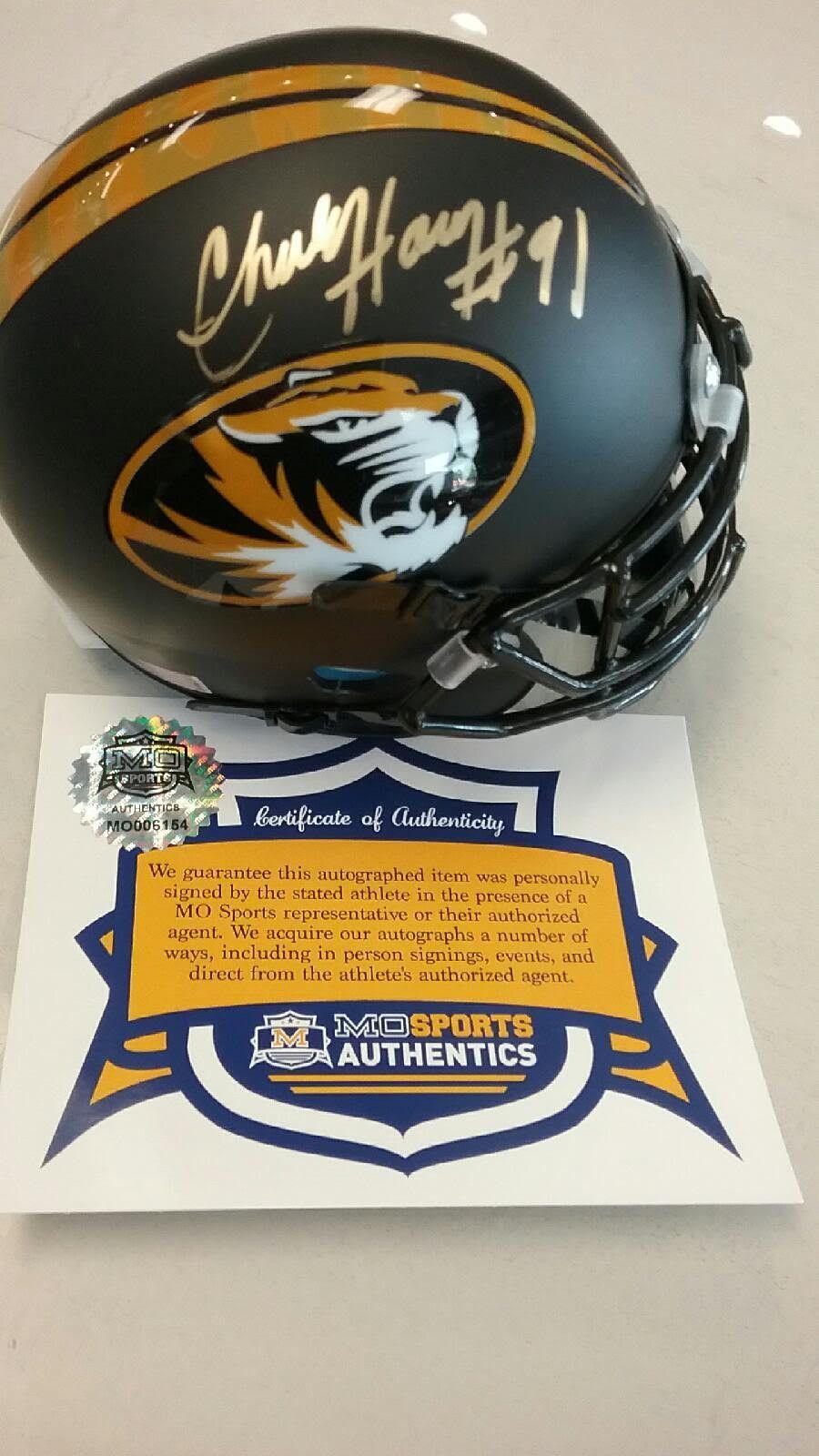 Missouri Tigers Charles Harris Signed Autographed Matte Oval Mini Helmet COA