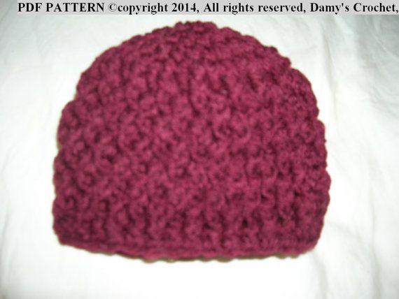 Micro Preemie Crochet Textured Beanie Hat PDF Pattern 1-3 lbs for ...