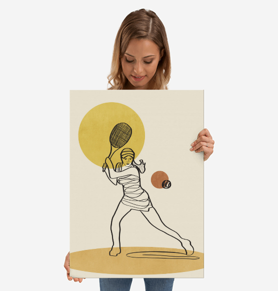 by Viviana Gonzalez metal poster @displate #displate #poster #sport #tennis #woman #vintage #retro #illustration