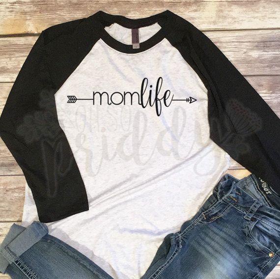 778cec5e195c4 Mom Life, MomLife, Arrow, Custom Vinyl T-Shirt, Women's Shirt, Vinyl ...