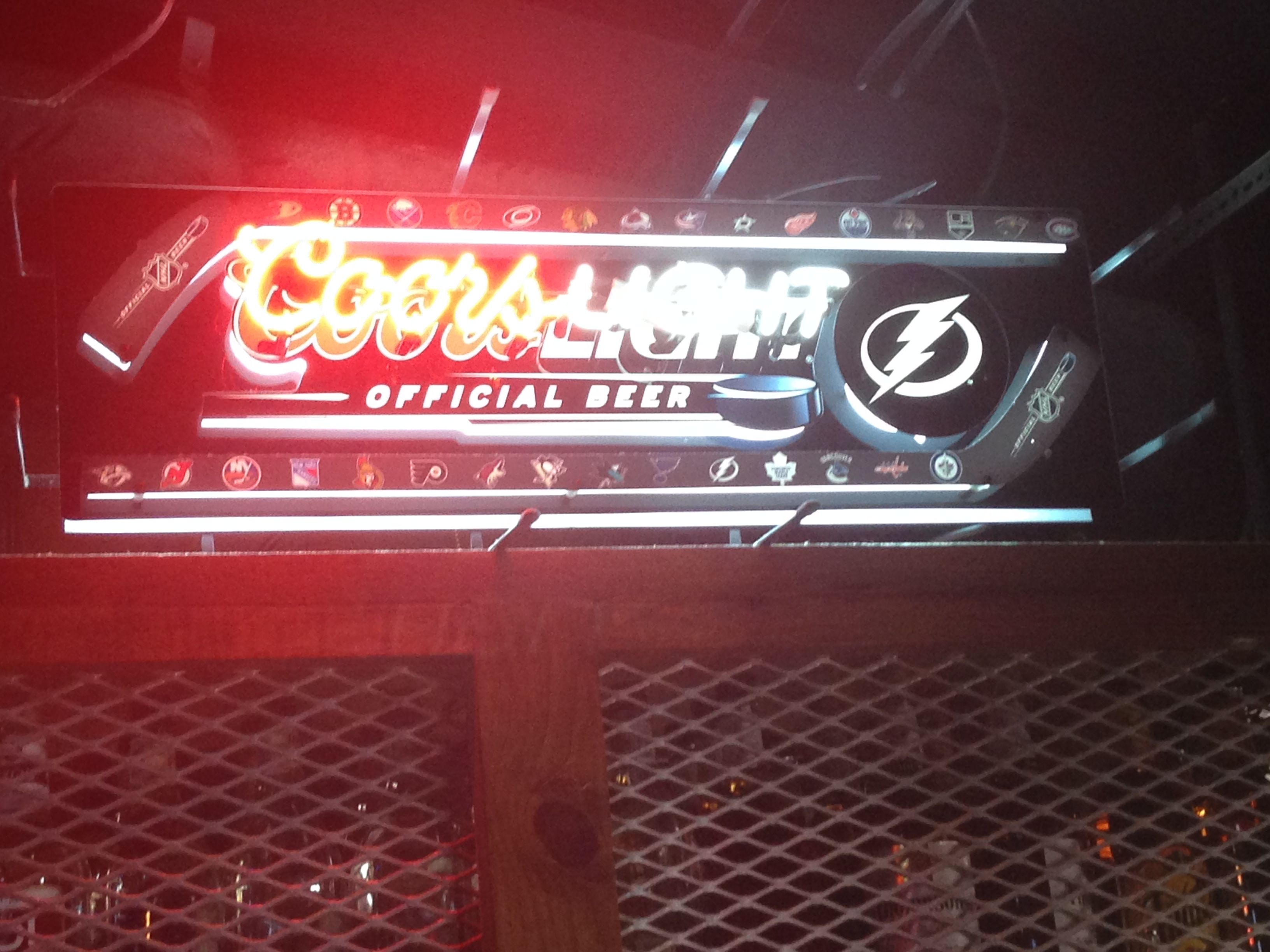 Neon beer sign tampa bay lightning coors light nhl neon beer sign tampa bay lightning coors light nhl aloadofball Images