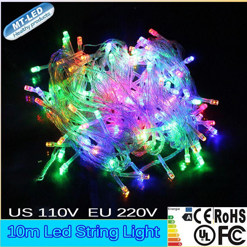 Купить товар 1 шт 10 М свет шнура Сид RGB цвет 100led 110 В 220 В