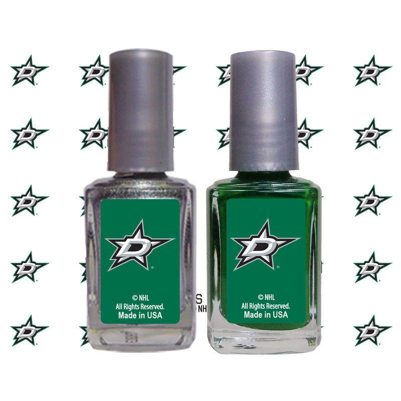 Dallas Stars 2-Pack Nail Polish with Nail Decal | Dallas, Uñas y ...