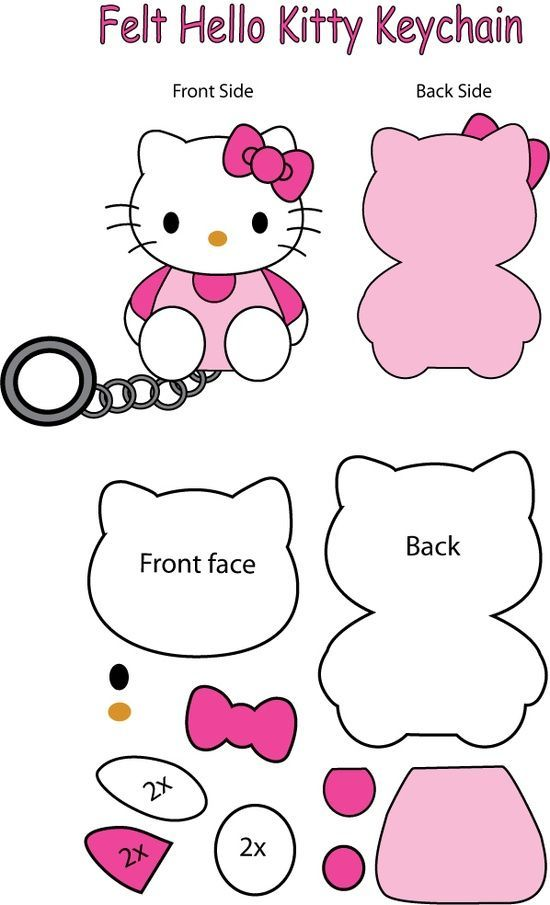 Queremos compartirles estos moldes para llavero de Hello Kitty con ...
