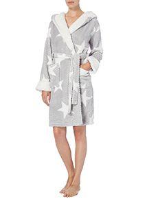 Grey Star Print Dressing Gown | AW LADIES NIGHTWEAR | Pinterest ...