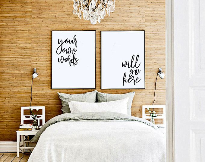 CUSTOMIZED Quote Prints! [Bedroom Above Bed Art, Cute