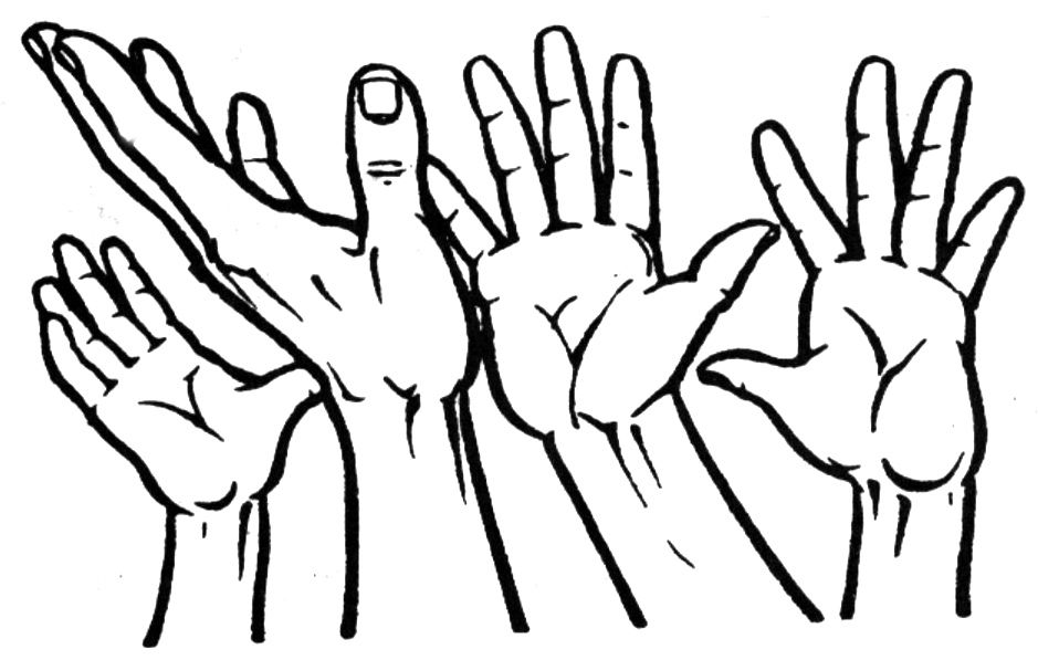 Open Praying Hands Clipart Clipart Panda Free Clipart Images Hand Silhouette Hand Art Drawing Hand Holding Something