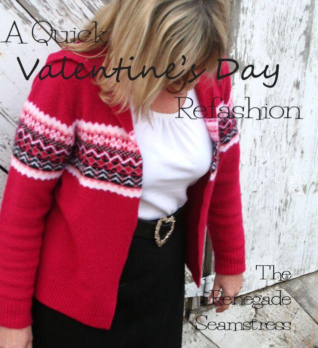 Loja Upcycled Thrift camisola para Dia dos Namorados