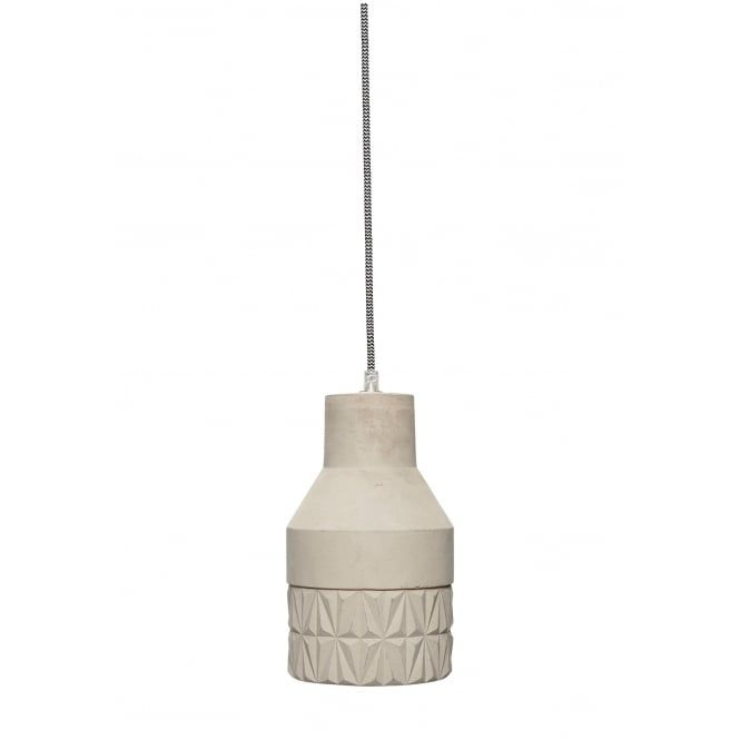 A Beautiful Concrete Shade Ceiling Pendant With Groove Detailing This Would Be Ideal For Lighting