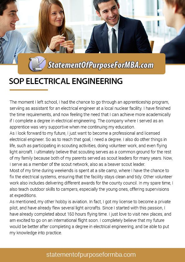Our Sop Writer Reveals The Best And Unique Sop For Electrical