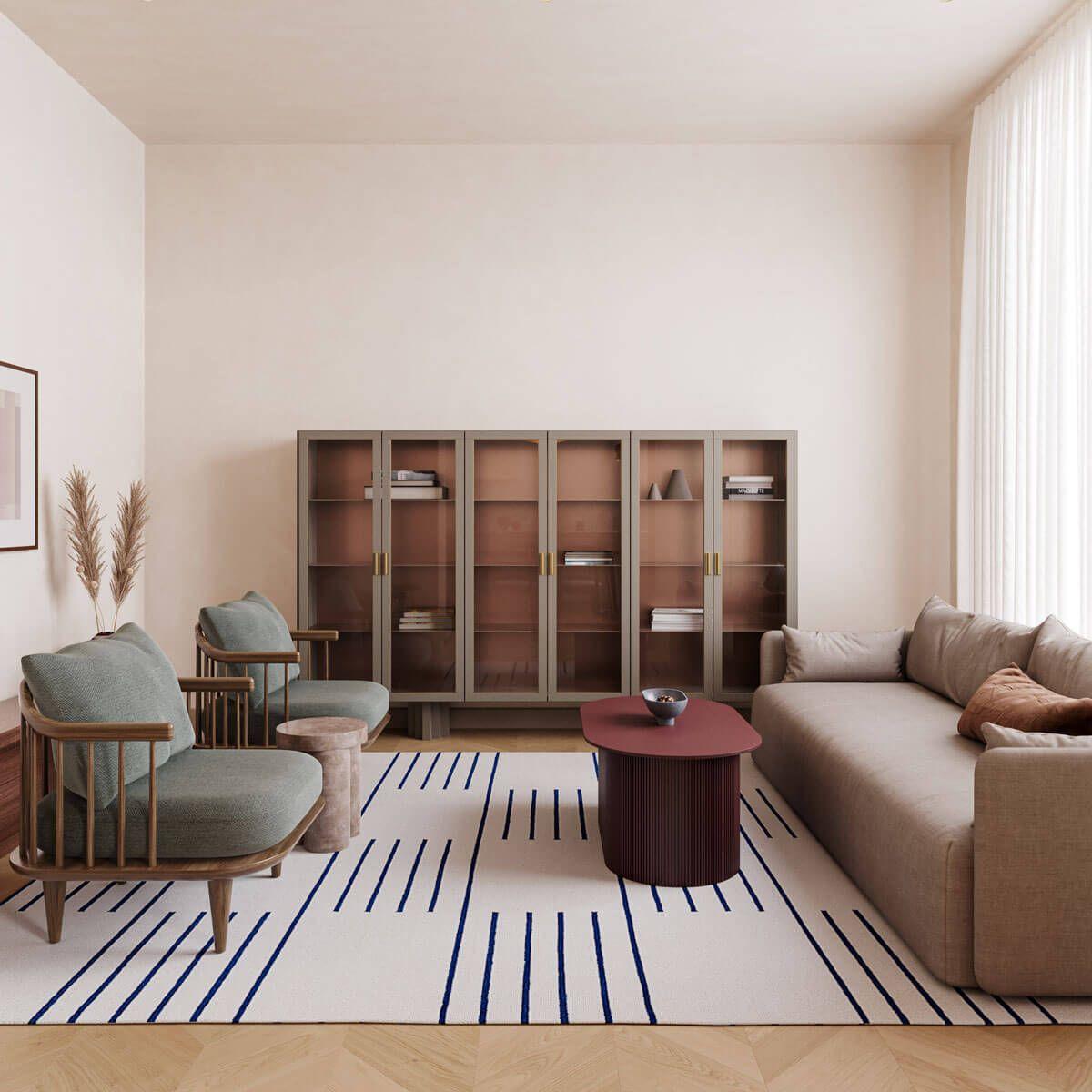 Classic Cream Blue Nordic Knots In 2020 Architect Office Interior Modern Interior Design Nordic Interior Design