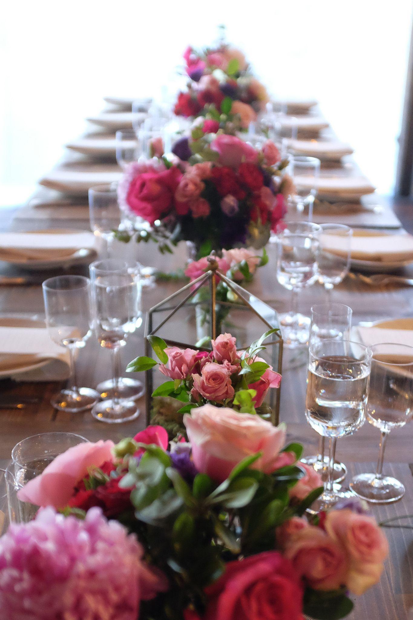 Centerpieces and lanterns rosehip social florist at
