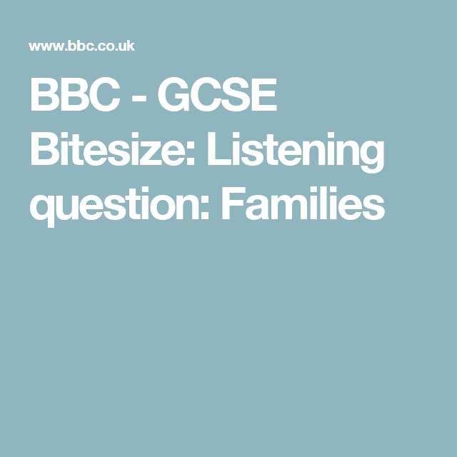 Bbc gcse bitesize listening question families parlez vous bbc gcse bitesize listening question families urtaz Image collections