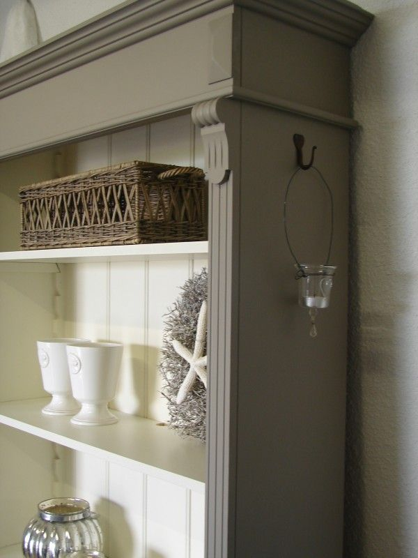 Landelijke boekenkast in Riviera Taupe/Old White - @ Home ...