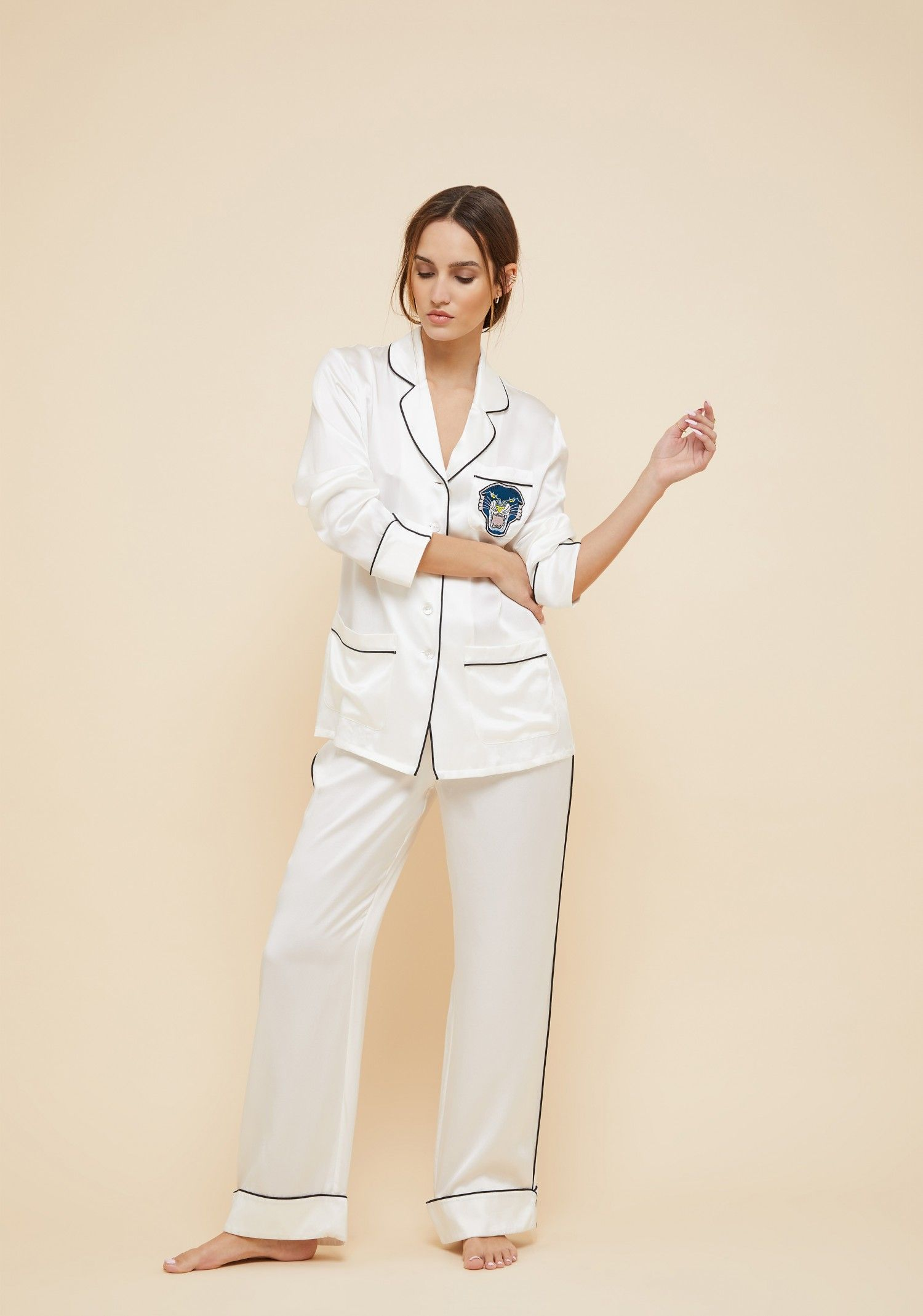 a56496965577 The Coco Tiffany embroidered silk pyjama is one of The Kensal Collection s  standout pieces