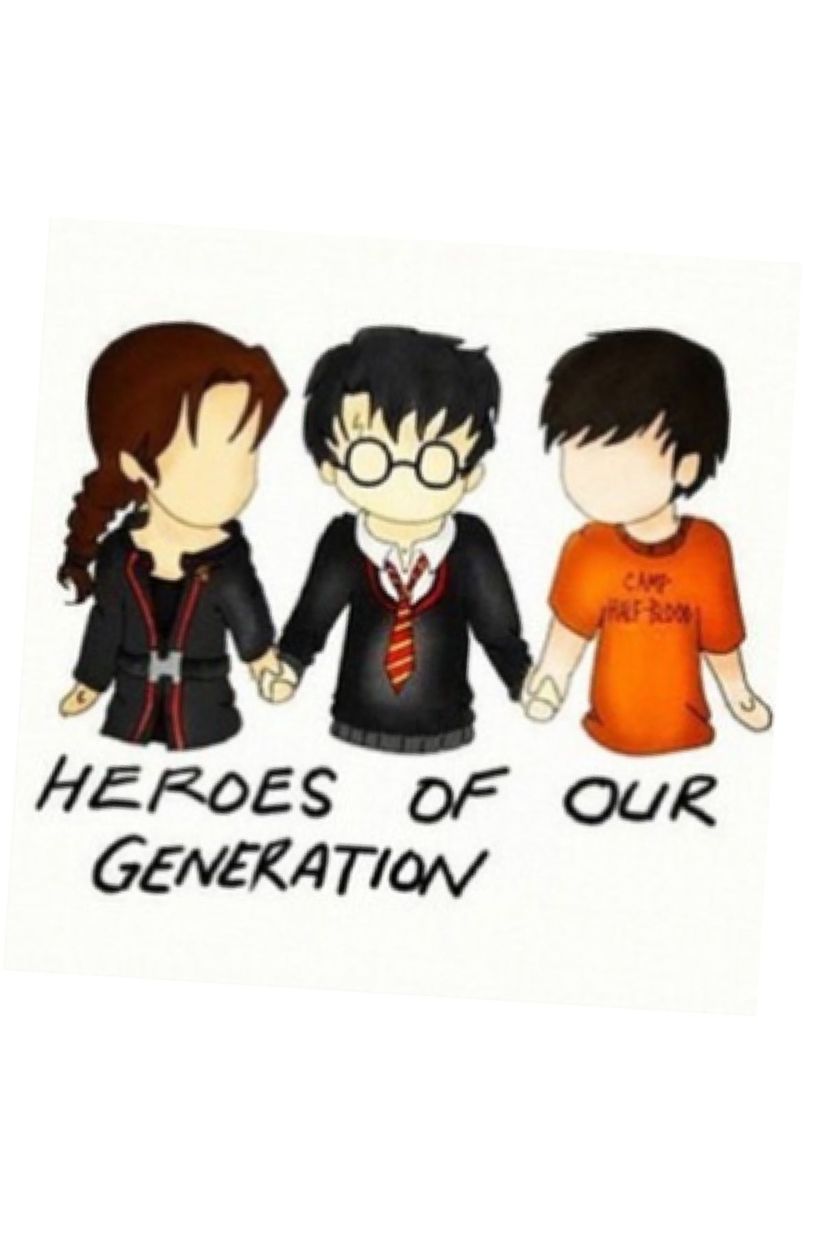 Left To Right Katniss Everdeen Harry Potter And Percy Jackson Percy Jackson Wallpaper Hunger Games Wallpaper Percy Jackson