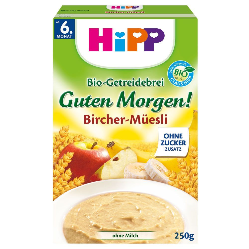 In Usa Hipp Good Morning Organic Baby Cereal Apple Banana 6 Months And Up Baby Cereal Organic Baby Cereal Baby Food Recipes