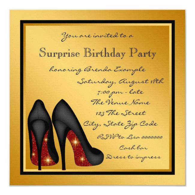Womans Surprise 60th Birthday Party Invitation | Zazzle.com #moms50thbirthday