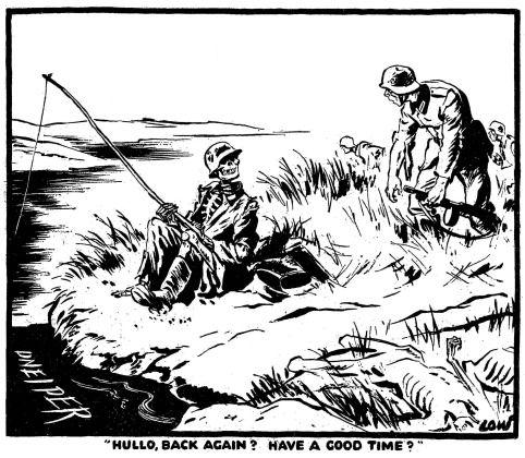 Second World War cartoons by the British cartoonist David