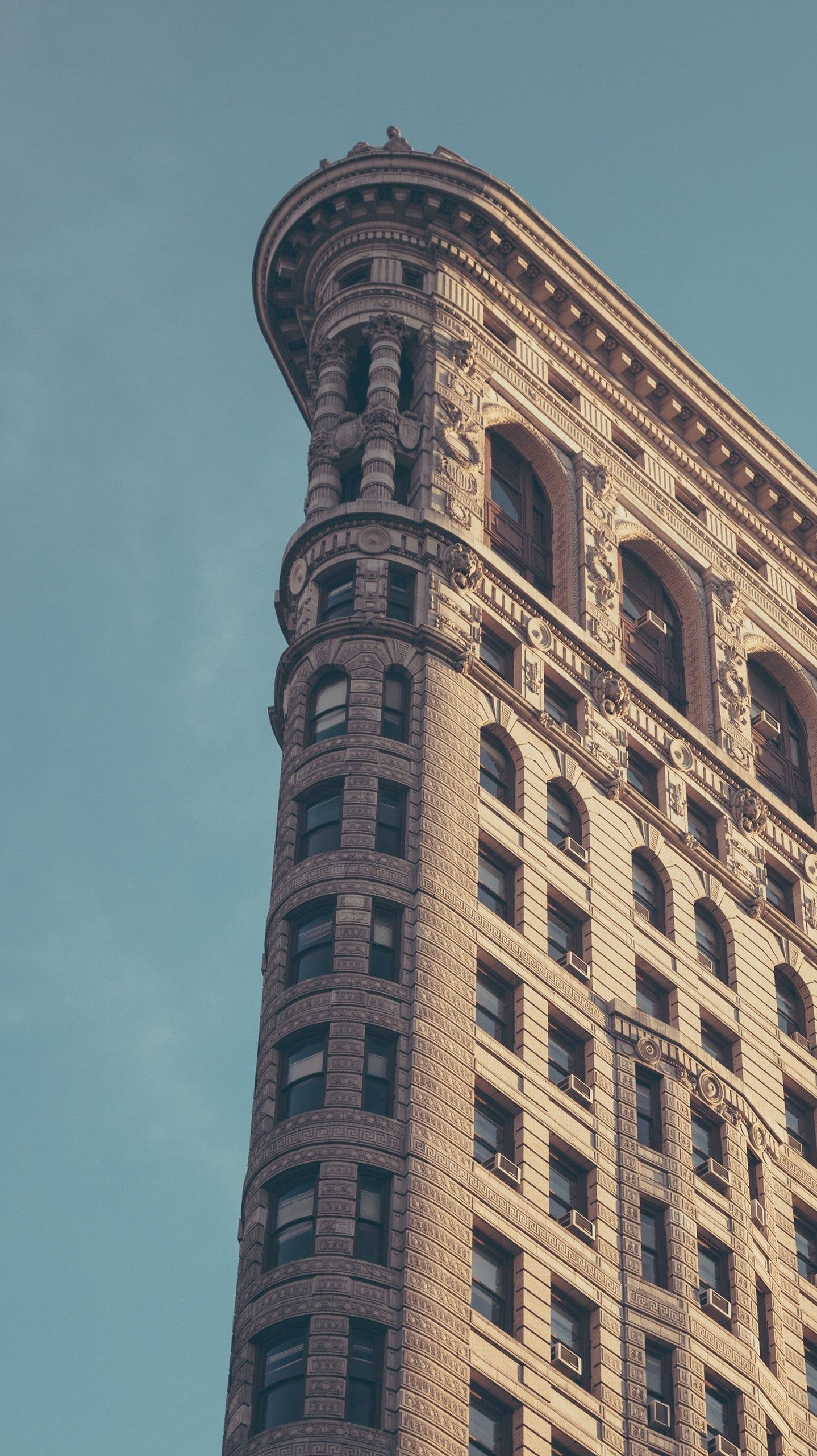Flatiron Building New York City Minimal Iphone Wallpaper In