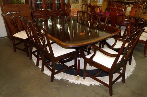 Stickley Classic Mahogany China Cabinet Marva S Place Mahogany Dining Table Highend Furniture China Cabinet
