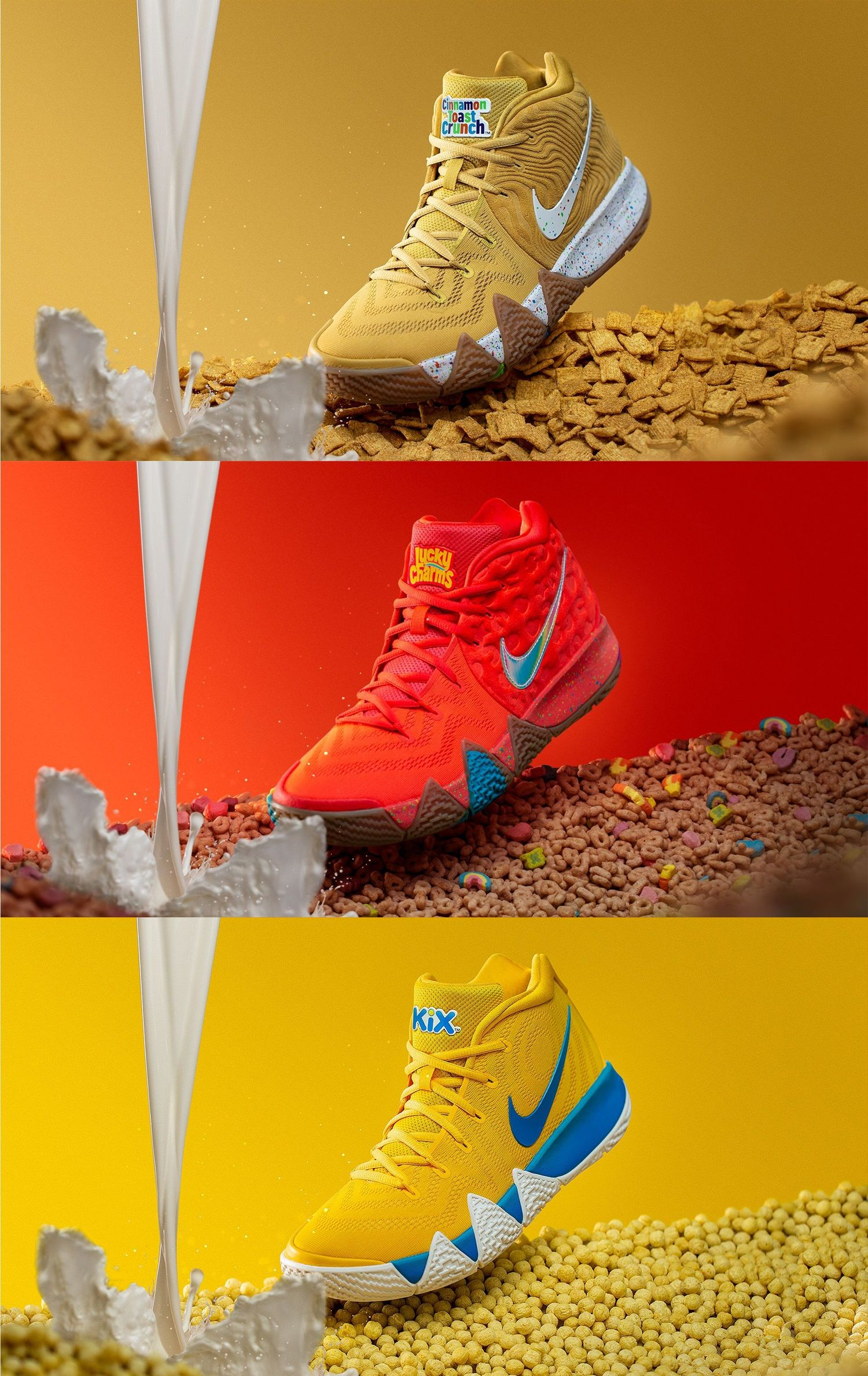 innovative design a265f 64572 WATCH: Sneaker Review: Nike Serves the Kyrie 4 Cereal Pack ...