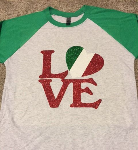 "Italian Flag ""LOVE"" Shirt"