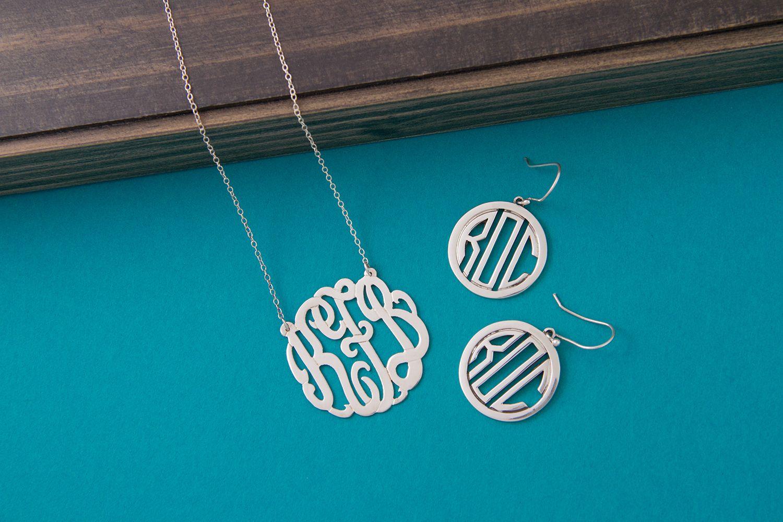 Monogram Jewelry #behandpicked