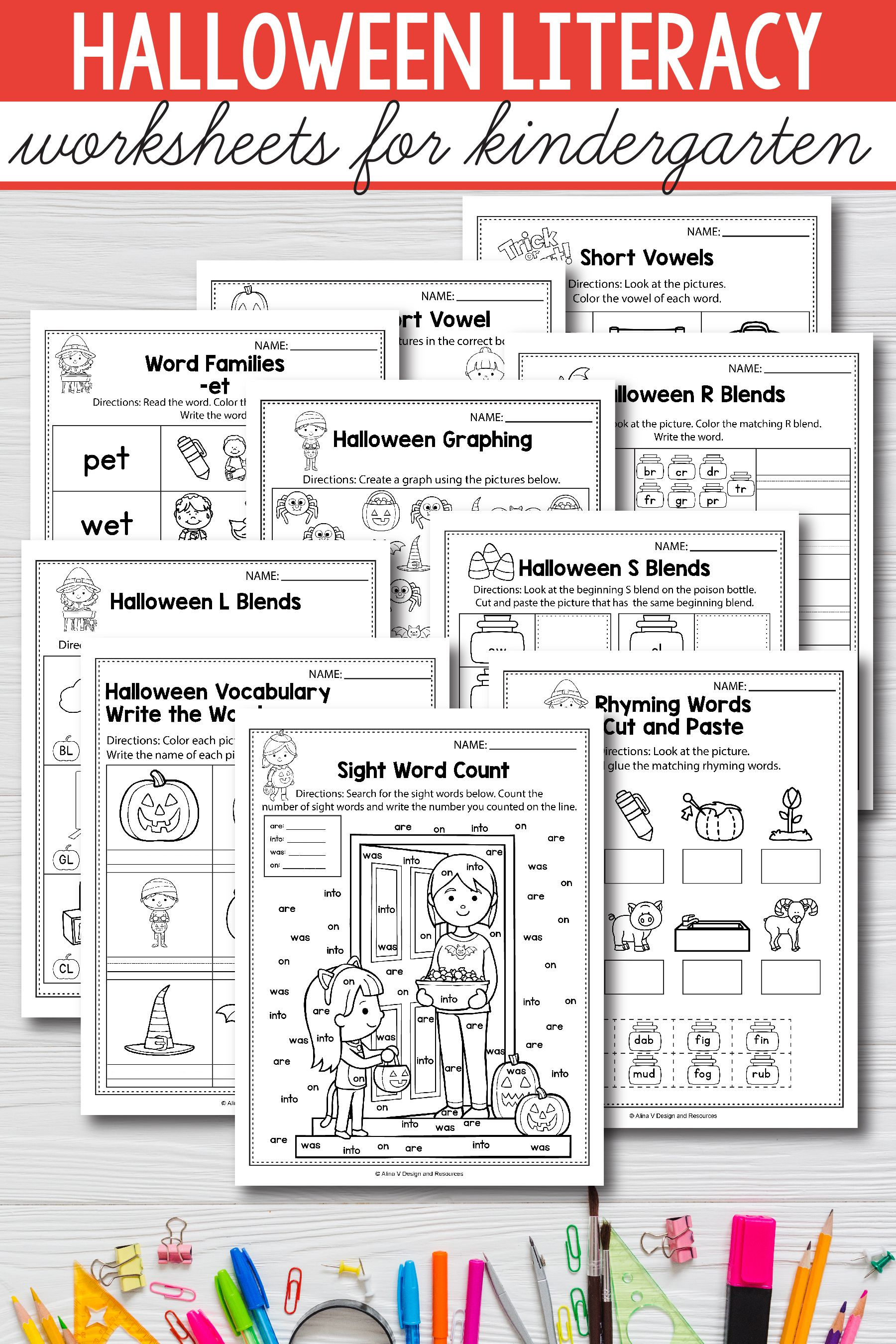Halloween Literacy Activities For Kindergarten 1st Grade