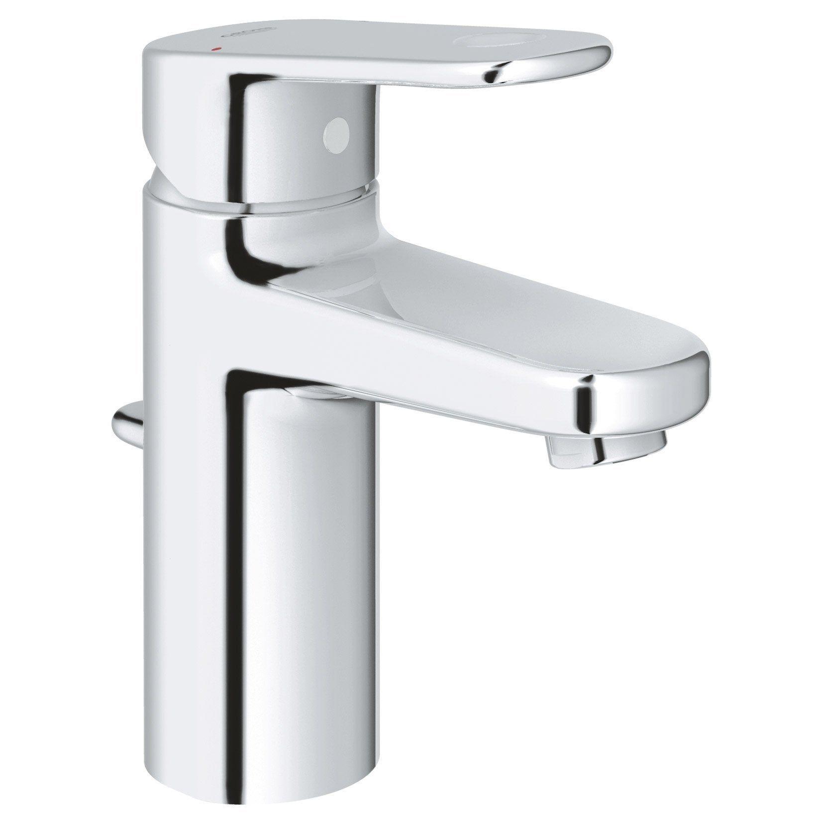 Mitigeur de lavabo chromé brillant, GROHE Europlus infra ...