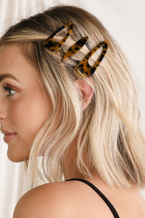 Double Dutch Tortoise Hair Clip Set