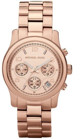 Michael Michael Kors Michaelkors Runway Rose Gold Watch 37mm Rosegold Looks