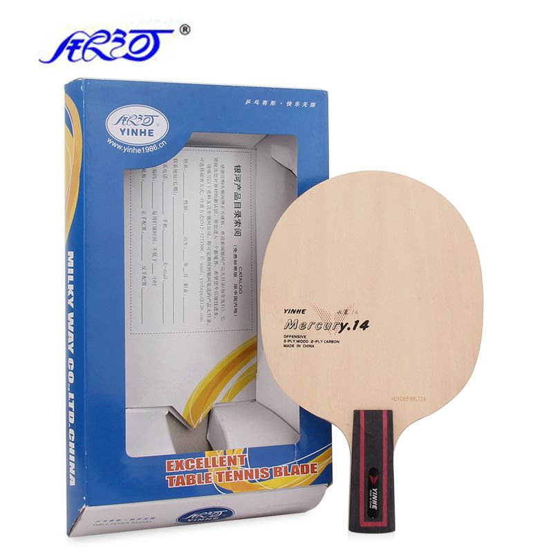 Yinhe Mercury Y 14 3 2 Carbon Table Tennis Blade Y13 Racket Ping Pong Bat Racquet Sports Table Tennis Racquets