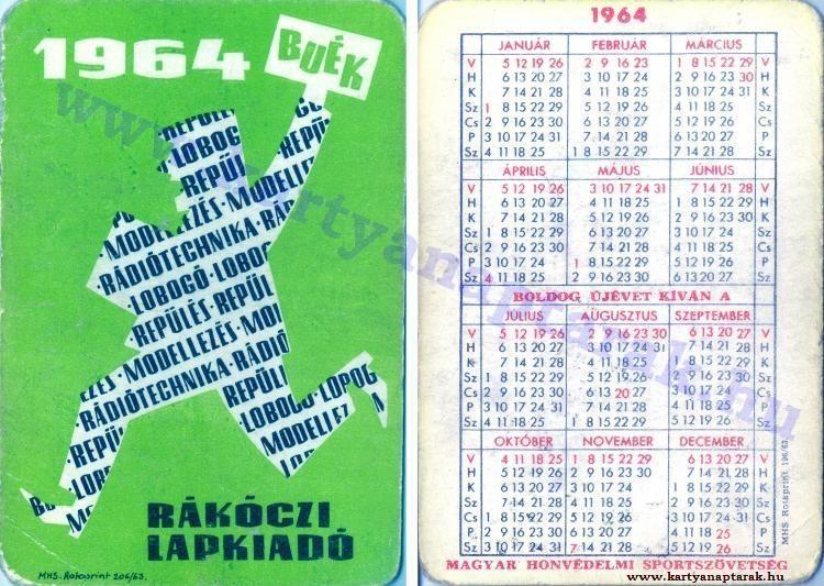 1964 - 1964_0110 - Régi magyar kártyanaptárak