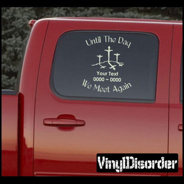 Cross In Loving Memory Custom Car Or Wall Vinyl Decal Stickers - Custom auto decal stickers